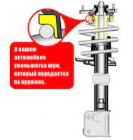 ВиброШумоизолятор для пружин передней подвески SS20 для  Лада Калина 1118