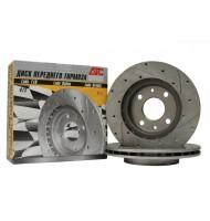 Тормозные диски ATC 2110 с насечками и перфорацией 2шт