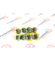 Полиуретановые сайлентблоки SS20 передних рычагов ВАЗ 2101-07 верх + низ, к-т 8 шт
