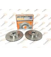 Тормозные диски ALNAS 2112 EUROSPORT с насечками и перфорацией 2шт