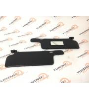 Солнцезащитные козырьки ВАЗ 2114 черные с зеркалом