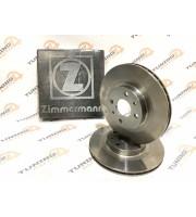 Диск переднего тормоза Zimmermann R14 вентилируемый ВАЗ 2112 (комплект 2 штуки)