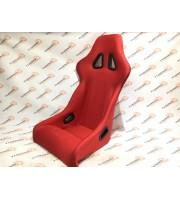 Спортивное сиденье Ковш, без вышивки, с отстрочкой, красное, 1 шт