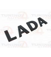 Надпись-Шильдик LADA нового образца Черный Матовый