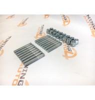 Шпильки колеса L=80 и гайки  M12х1,25 Вектор (Комплект 16 штук )
