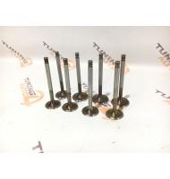 Клапаны облегчённые увеличенные 39 мм/34 мм  ВАЗ 2108 / 2110 8V (комплект 8 штук)