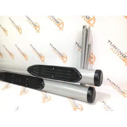 Пороги Труба с проступью с пластиковой заглушкой ВАЗ 2131